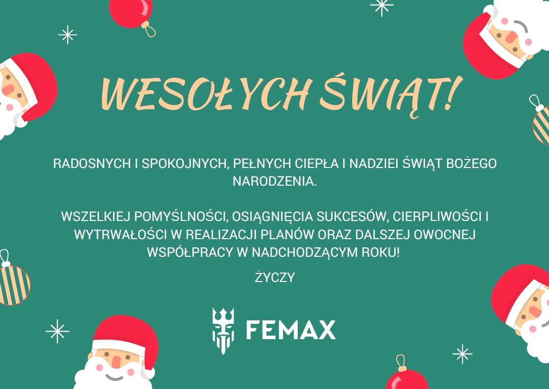 2017 życzenia świąteczne femax